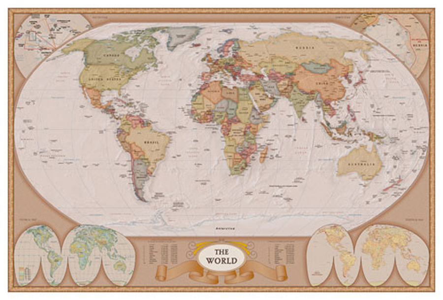 Map of the World Giclee Print on Arch Paper at Eurographics