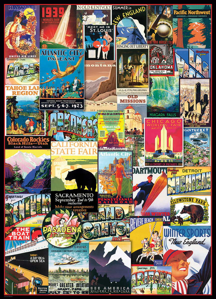 Puzzles Jigsaw Eurographics Us Vintage Travel Ads At fY6b7ygv